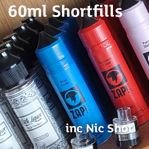 60ml Shortfills 0.3% HighVG inc 1 x Nic Shot